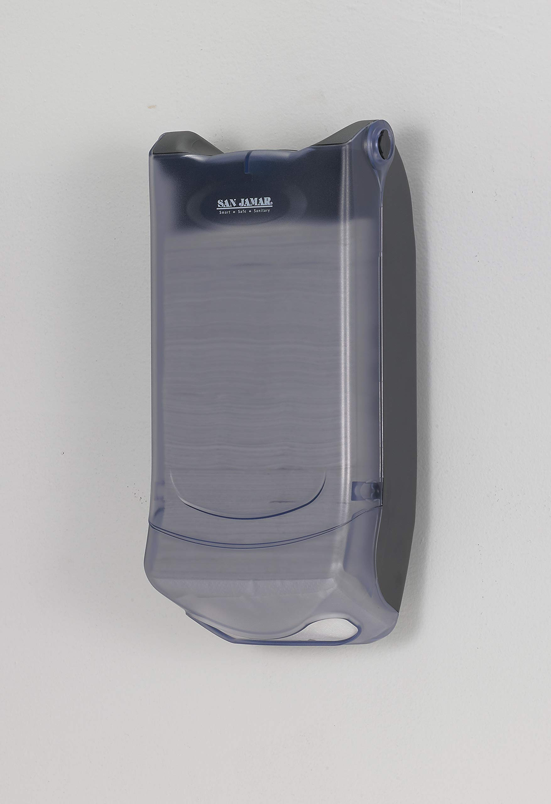 San Jamar H5004P Venue Wall Mount Mini Interfold Napkin Dispenser, 600 Capacity, 8'' Width x 15-3/4'' Height x 5-9/10'' Depth, Clear by San Jamar (Image #4)