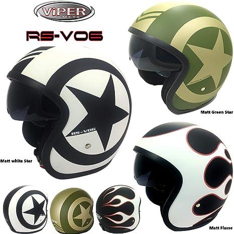 Open Face casco Viper rs-v06/Star moto ECE 22.05/approvato moto scooter Touring casco con visiera interna parasole