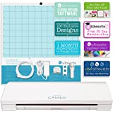Silhouette Cameo 3 with Bluetooth, Auto Adjusting Cutting Blades, Vinyl Trimmer, 12x12 Mat, 110v-220v Power Cord, Warranty