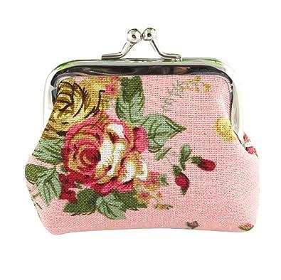 5e7efce05307 Amazon | Aijoo ミニ財布 2WAY がま口 かわいい 多機能 カード入れ 小銭 ...