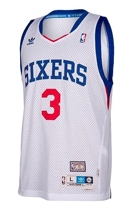 747e21ab Philadelphia 76ers Allen Iverson White Soul Adidas Swingman Jersey (L)