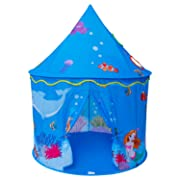 Homfu Play Tent for Kids Mermaid Castle Playhouse for Boys Girls Sea World Pattern Children Tent As