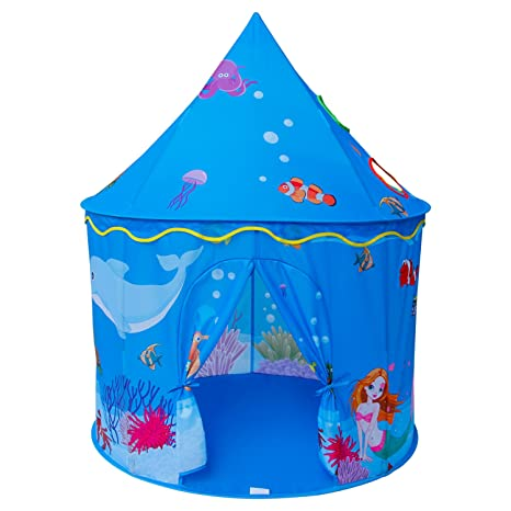 Amazon.com Homfu Play Tent for Kids Mermaid Castle Playhouse for Boys Girls Sea World Pattern Children Tent As Toys u0026 Games  sc 1 st  Amazon.com & Amazon.com: Homfu Play Tent for Kids Mermaid Castle Playhouse for ...