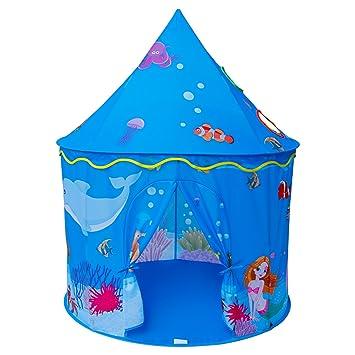 Homfu Play Tent For Kids Mermaid Castle Playhouse For Boys Girls Sea World Pattern Children Tent  sc 1 st  Amazon.com & Amazon.com: Homfu Play Tent For Kids Mermaid Castle Playhouse For ...
