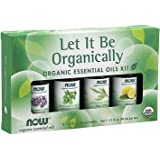 NOW Essential Oils, Let It Be Organically Kit, 4x10ml Including: Organic Lavender, Organic Tea Tree, Organic Peppermint…