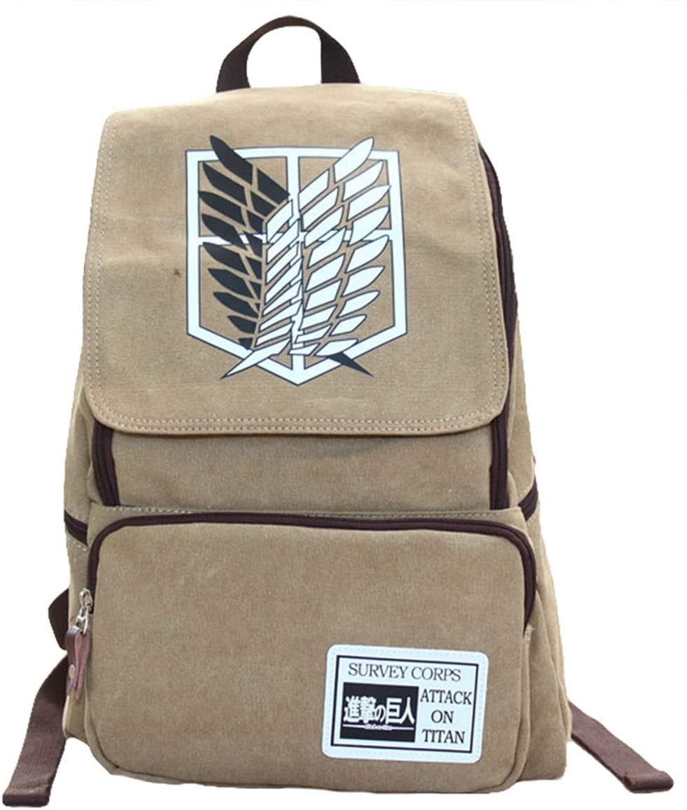 Gumstyle Attack on Titan Backpack Rucksack Schoolbag Tablet Laptop Bag for Boys and Girls