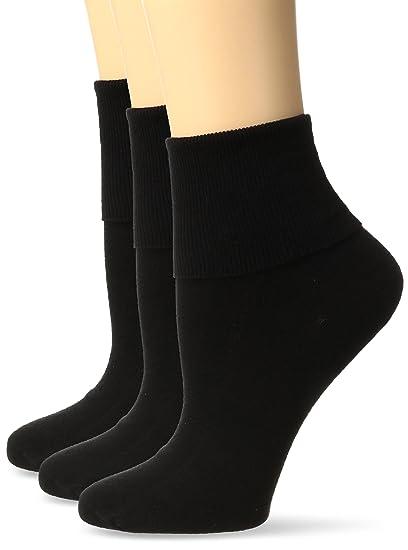 568178d3d49 No Nonsense Women s Cotton Basic Cuff Sock 3-Pack