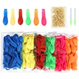 Water Balloons Refill Kit 600 PCS, Bunch Balloons for Used Straws - 6 Assorted colors New Version Rubber Bands - Refill Bunch of Balloons in a Flash by Lizber