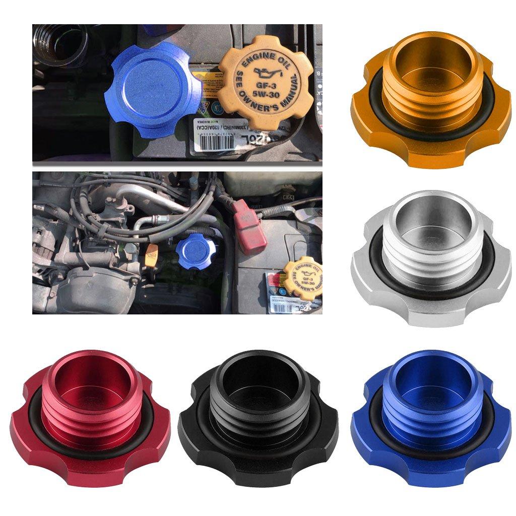 Black Shiwaki Aluminum Oil Fuel Tank Cap Cover For Subaru Legacy Impreza Forester