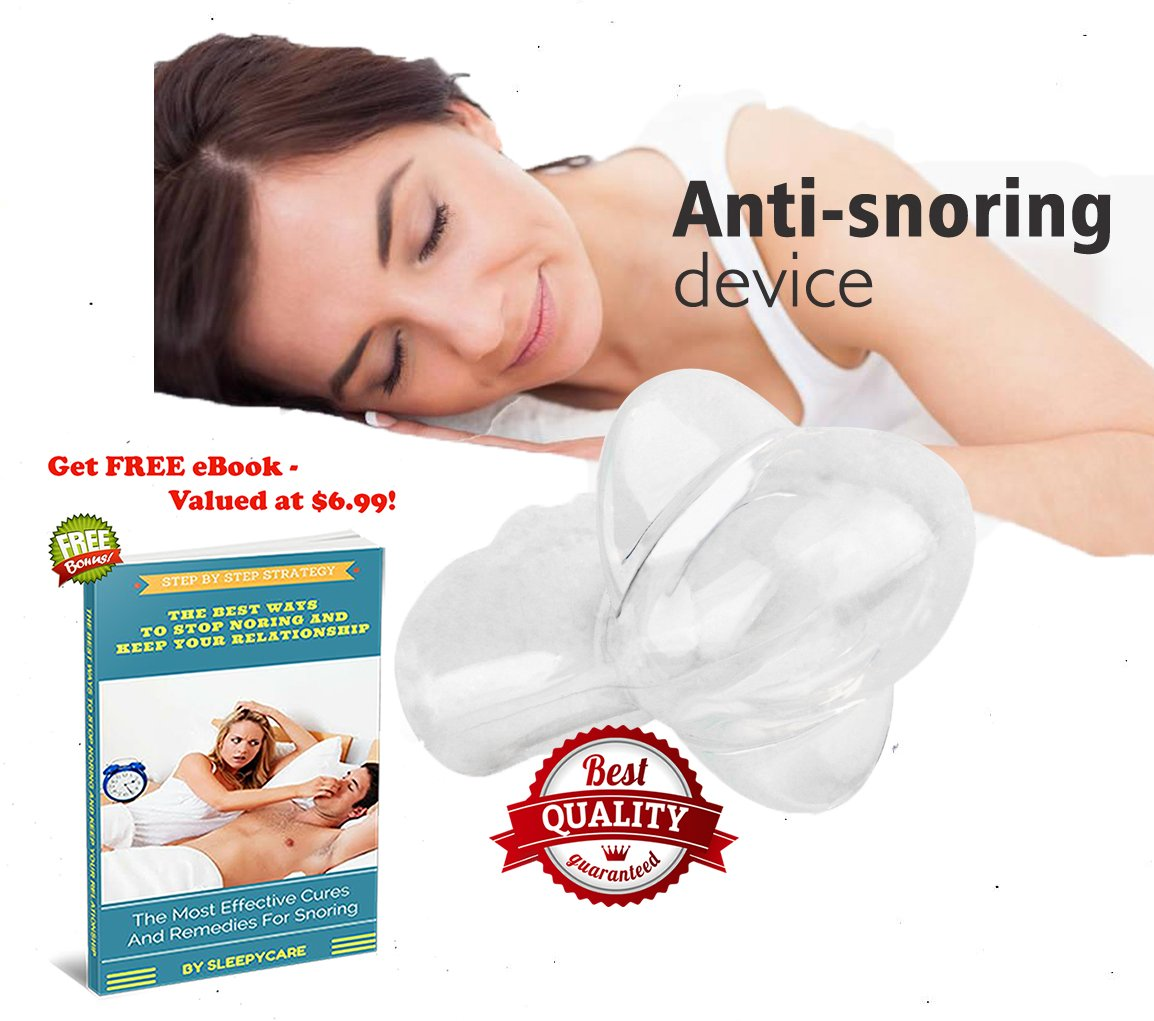 Stop Snoring the Most Useful Sleep Aid and Anti Snoring Device - Includes Travelling Case - Get the Restful Night You Deserve!