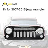 AUXMART Grille Ghost Grill Grid for Jeep Wrangler