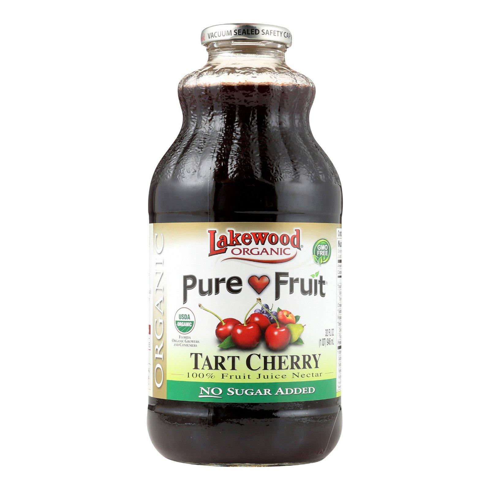 Lakewood Pure Organic Tart Cherry - Cherry - Case of 12 - 32 Fl oz.