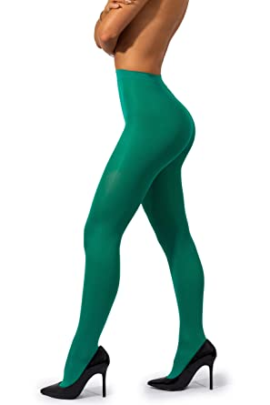c49e38a4bf1011 sofsy Opaque Microfibre Tights for Women - Invisibly Reinforced Opaque  Brief Pantyhose 40Den [Made In