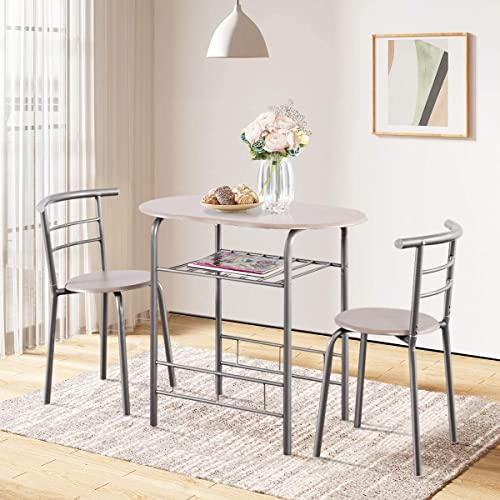 ARLIME 3-Piece Dining Table Set