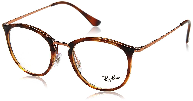 Ray-Ban rx7140 occhiali all'Avana a strisce RX7140 5687 51 Ray-Ban - ROUND RX 7140 Rotondo propion 0RX7140
