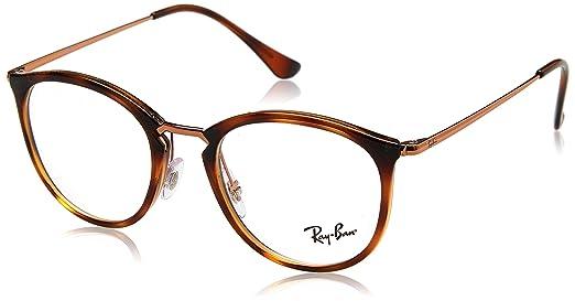 de804b3109 Ray-Ban Unisex-Erwachsene Brillengestelle 0RX 7140 5687 49 Braun (Spped  Havana)