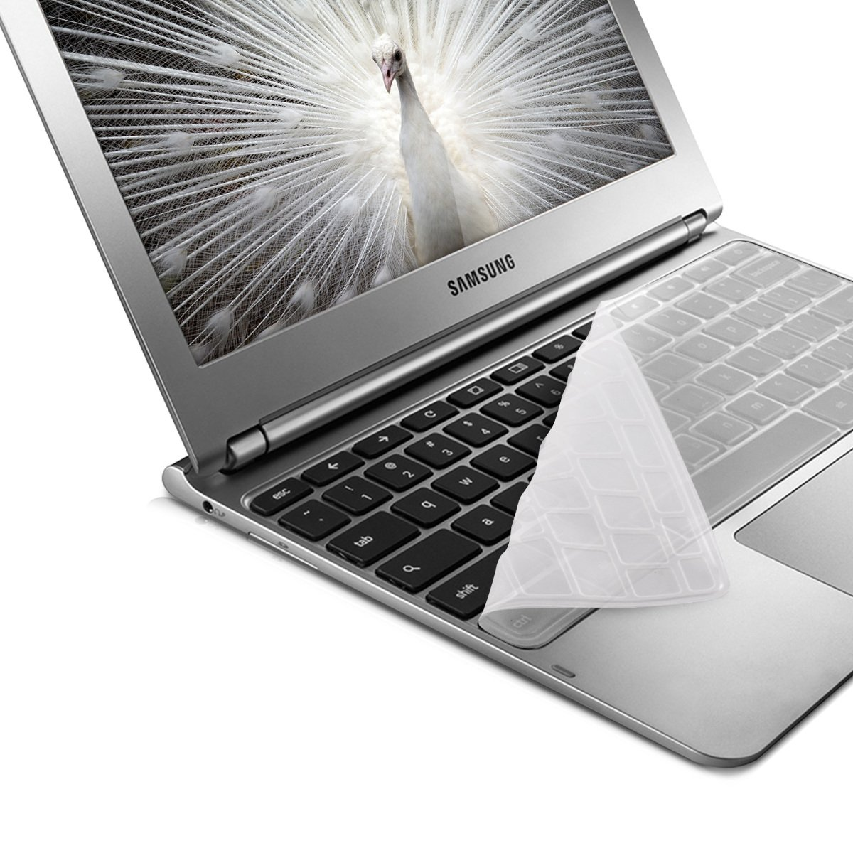 kwmobile Robuster hauchd/ünner Tastaturschutz QWERTY aus Silikon f/ür Samsung ARM 11.6 Chromebook Series 3 US