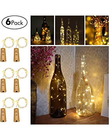 fairydecor wine bottles string micro artificial cork copper wire starry fairy battery operated lights for