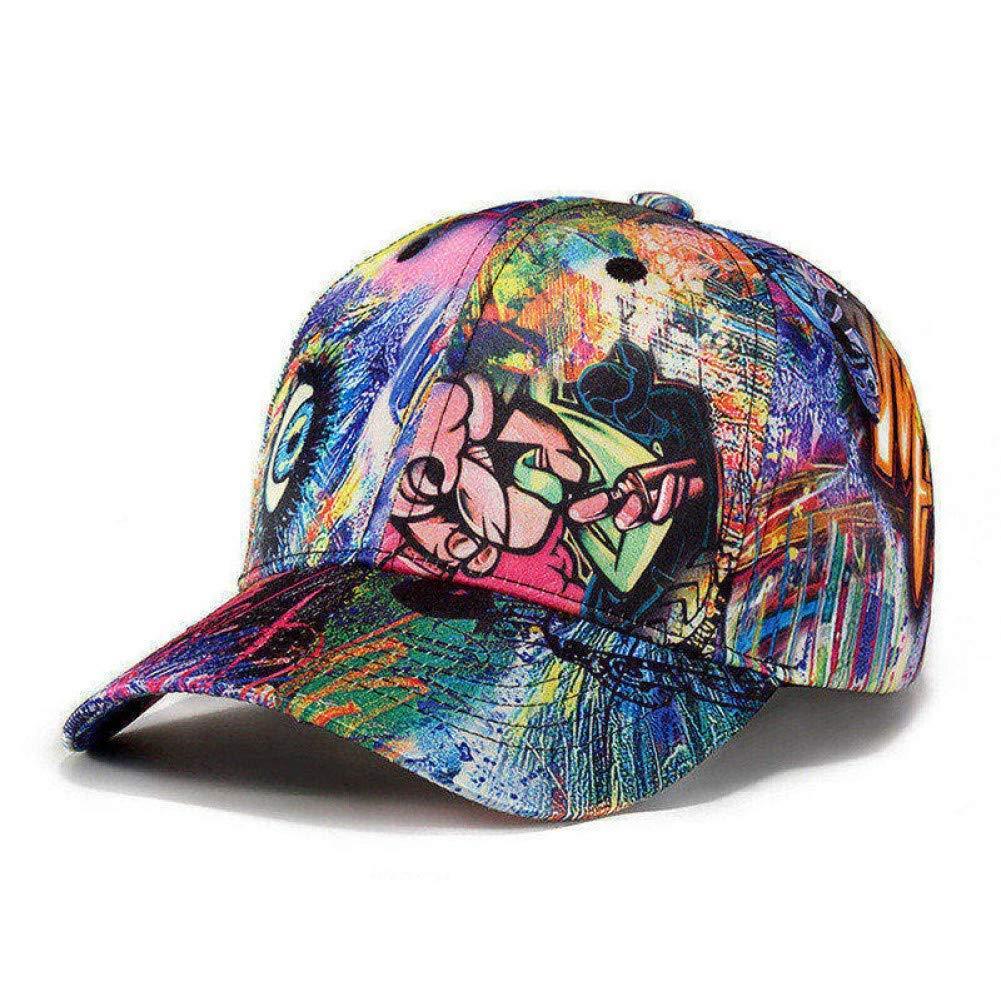 LVGUMM Hat Hip Hop Baseball Cap Men Women Street Dancer Cap Skateboard Graffiti Doodle Hat Busker Fans Caps Hat for Men Women Youth,Blue