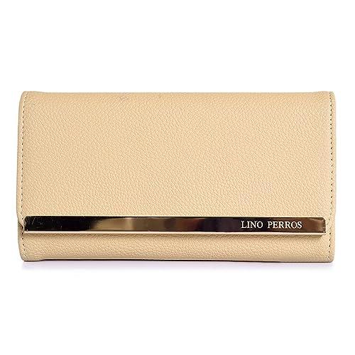 Lino Perros Women's Clutch (Beige)