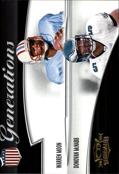 2006 Donruss Threads Generations Gold #20 Warren Moon Donovan McNabb at Amazons Sports Collectibles Store