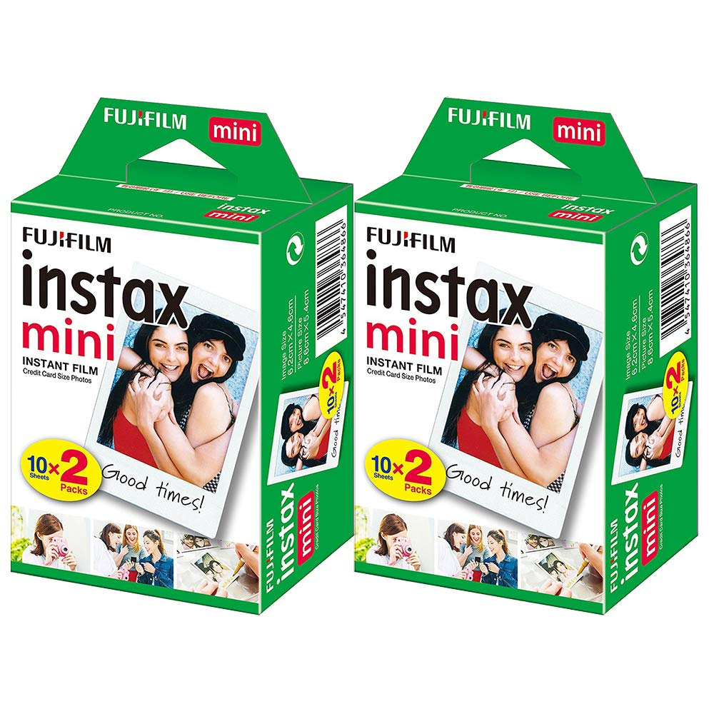 Fujifilm Instax Mini Instant Film - 40 Sheets (2 Packs 20 Film Sheets)