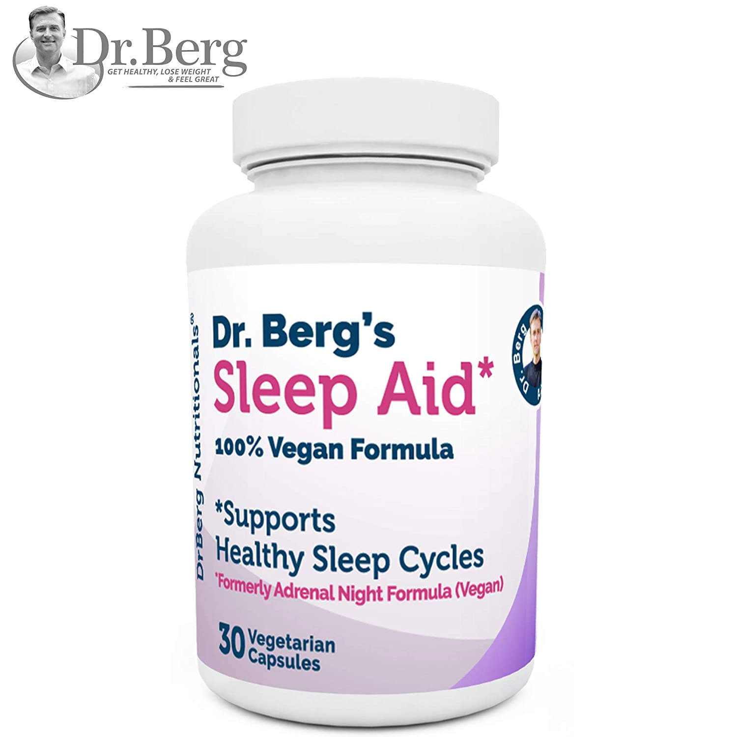 d91ccebc81df Amazon.com  Dr. Berg Product – Sleep Aid Vegan Formula – All Natural  Support for Normal Sleep Cycles to Fight Fatigue   Stress – Non Habit  Forming (1 Pack)  ...