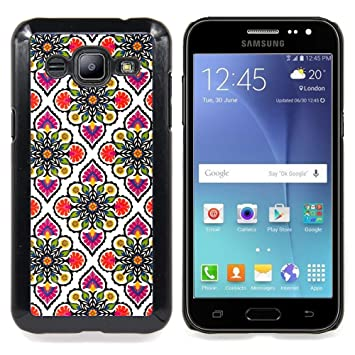 For Samsung Galaxy J2 Wallpaper Pink White Pattern Motif Housse