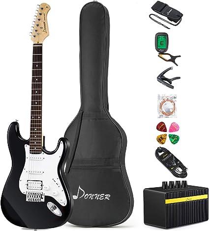 Donner DST-1B Guitarra Eléctrica Tamaño Completo de 39 Pulgadas ...