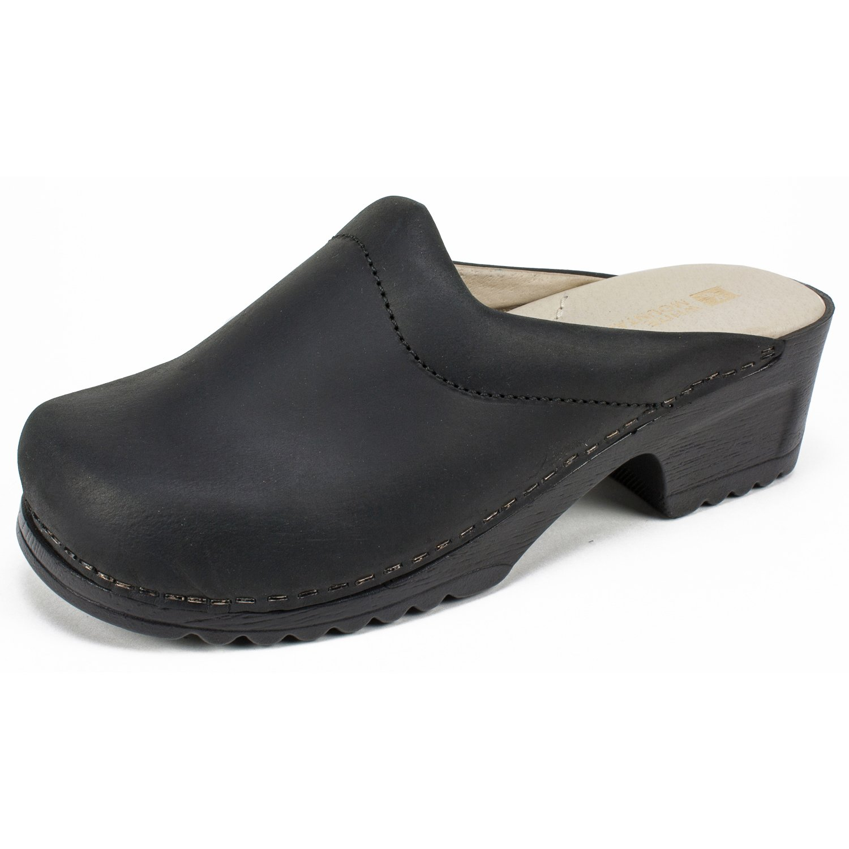 WHITE MOUNTAIN Shoes HANA Women's Mule, Black/Leather, 8 M