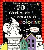 20 CARTES DE VOEUX A COLORIER