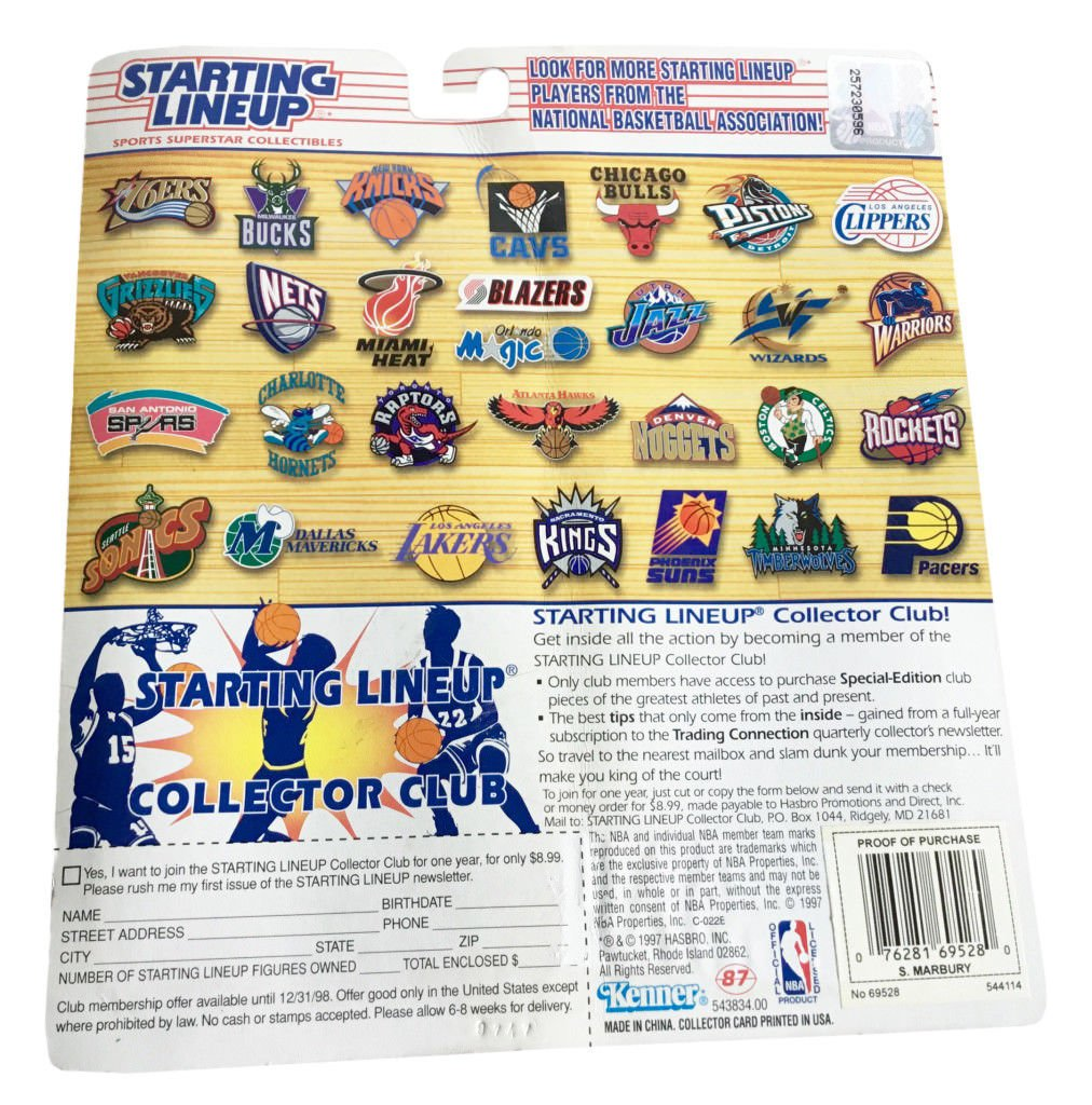 Starting Lineup 10th Year 1997 Edition Stephon Marbury From Timberwolves Action Figure by Starting Line Up Kenner