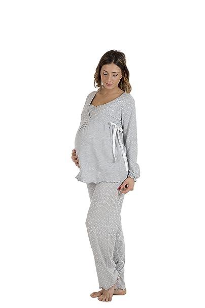 Premamy - Pijamas Pre-Post Natal - Color: gris: Amazon.es: Ropa y accesorios