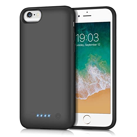 Amazon.com: Swyop - Funda con batería para iPhone 6s, 6000 ...