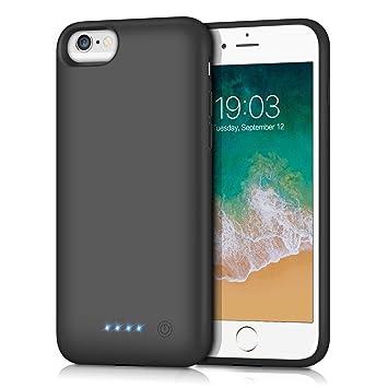 Kilponen Funda Batería para iPhone 6/6S/7/8, [6000mAh] Funda Cargador Portatil Batería Externa Ultra Carcasa Batería Recargable Power Bank Case para ...