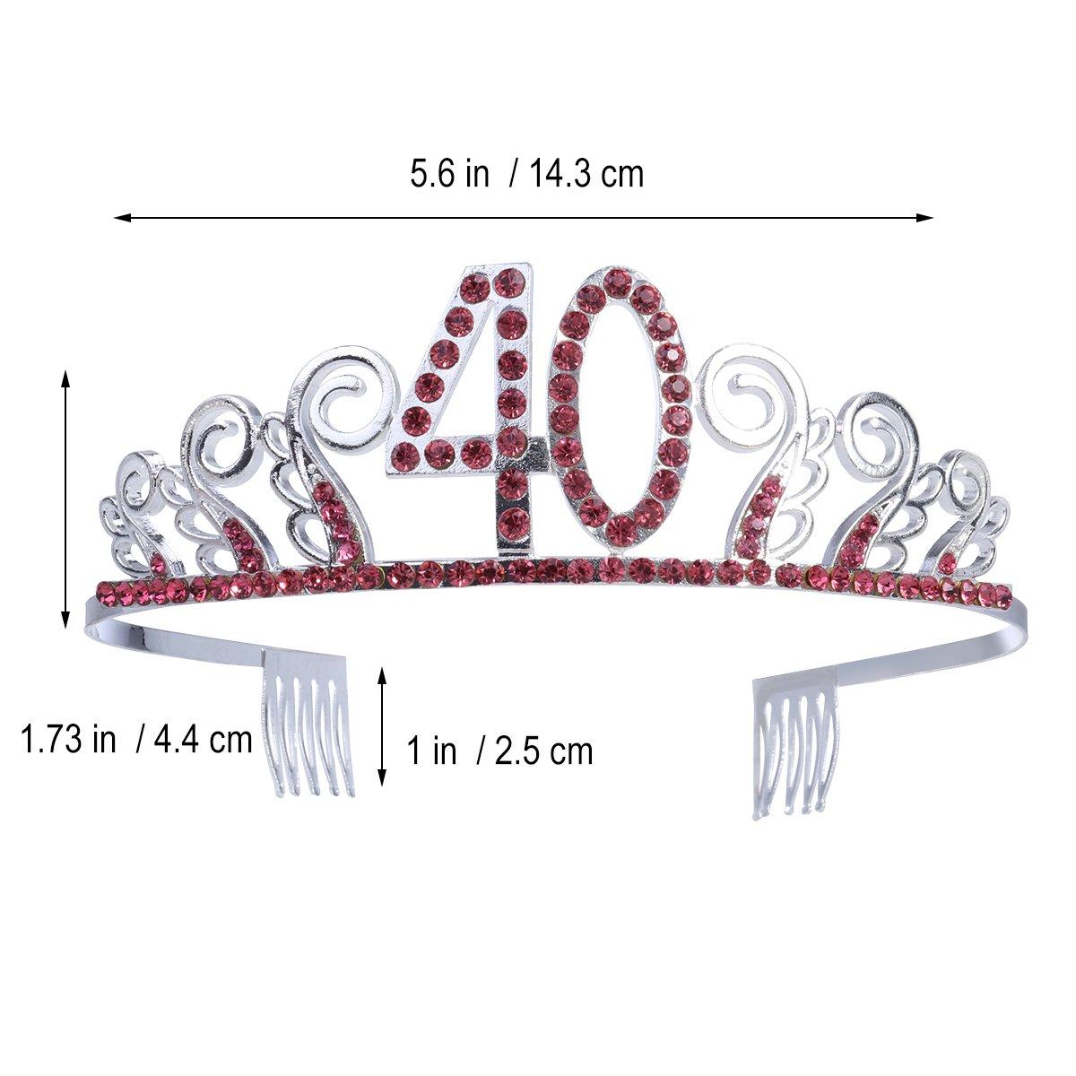 40.o cumpleaños cristal Tiara reina princesa coronas Dance ...