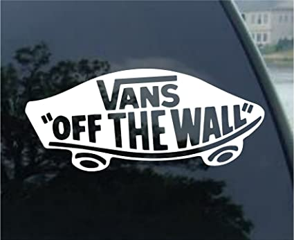 c2f753ca7fbbe2 Amazon.com  Crawford Graphix Vans Off The Wall Car Window Vinyl ...