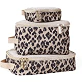 Itzy Ritzy Packing Cubes - Set of 3 Packing Cubes or Travel Organizers; Each Cube Features A Mesh Top, Double Zippers & A Fab
