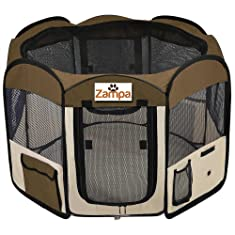 "Pet 45"" Playpen Foldable Portable Dog/Cat/Puppy Exercise Kennel"