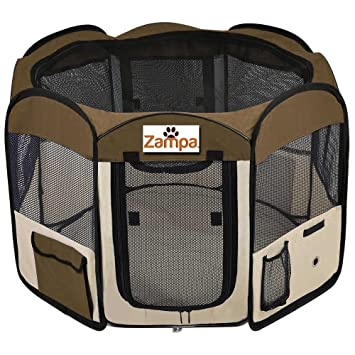 Charming Pet 45u0026quot; Playpen Foldable Portable Dog/Cat/Puppy Exercise Kennel For  Small Medium