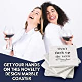 Marble Coasters For Drinks - Funny Housewarming