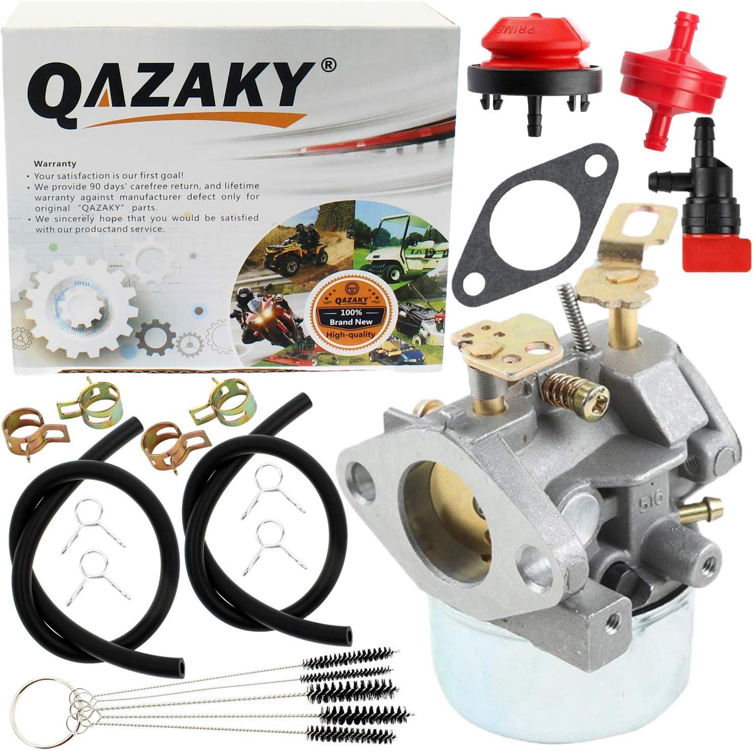 QAZAKY Carburetor Replacement for Tecumseh 640349 640052 640054 640058 640058A HMSK80 HMSK85 HMSK90 HMSK100 HSMK110 LH318A LH358SA 8HP 9HP 10HP Snowblower Generator Chipper Shredder Carb 50659 520926