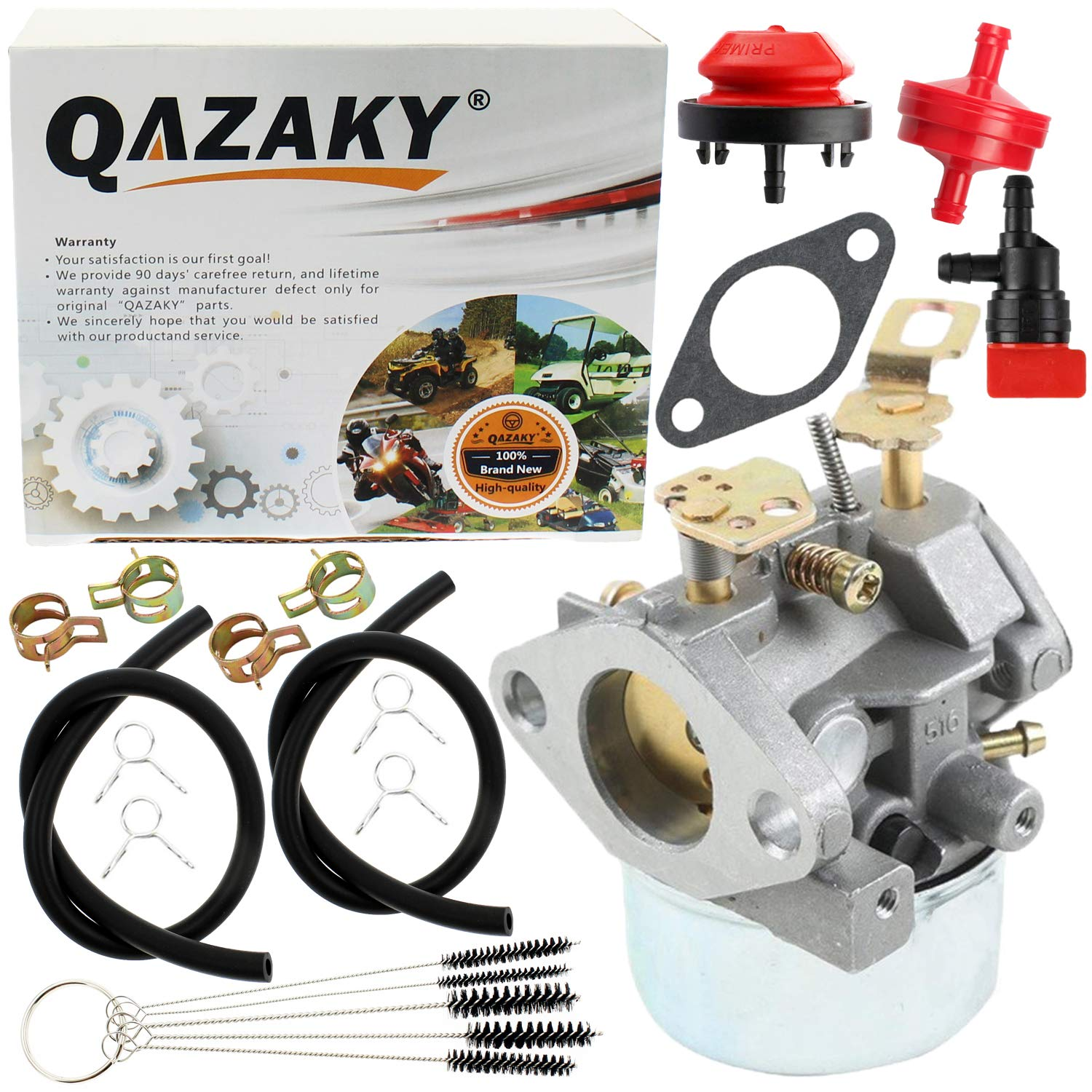 QAZAKY Carburetor Replacement for Tecumseh 640349 640052 640054 640058 640058A HMSK80 HMSK85 HMSK90 HMSK100 HSMK110 LH318A LH358SA 8HP 9HP 10HP Snowblower Generator Chipper Shredder Carb 50659 520926 by QAZAKY