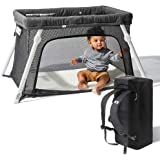 Lotus Travel Crib - Backpack Portable, Lightweight, Easy to Pack Play-Yard with Comfortable Mattress - Certified Baby…