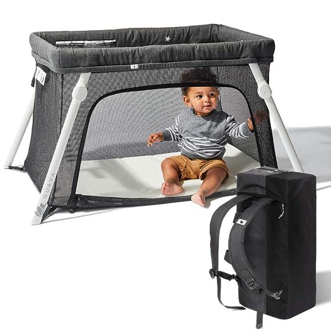 Lotus Travel Crib and Portable Baby Playard by Guava Family: Amazon.es: Bebé