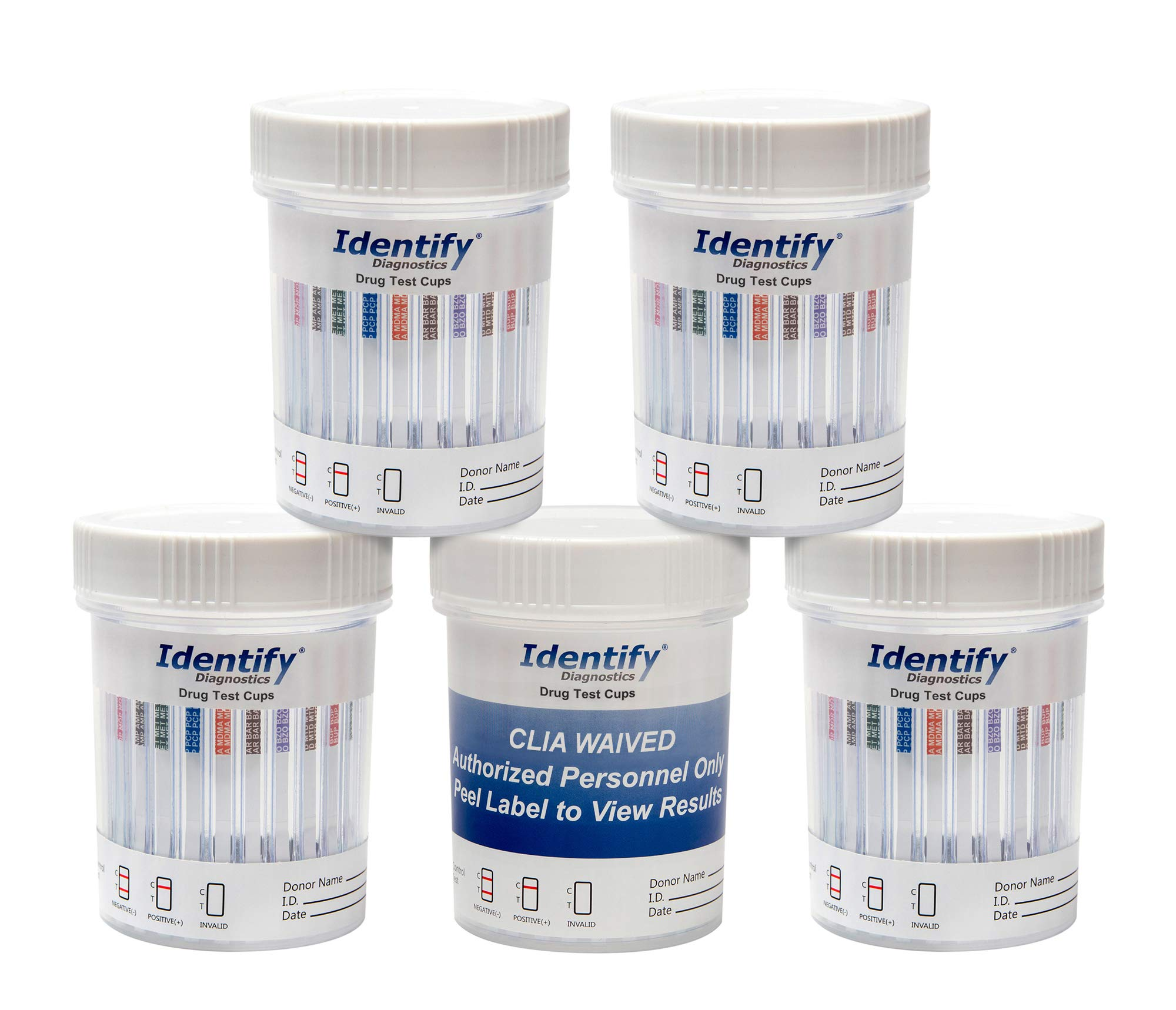10 Pack Identify Diagnostics 12 Panel Drug Test Cup with BUP Testing Instantly for 12 Different Drugs: THC, COC, OXY, MDMA, BUP, MOP, AMP, BAR, BZO, MET, MTD, PCP #ID-CP12-BUP (10) by Identify Diagnostics (Image #9)