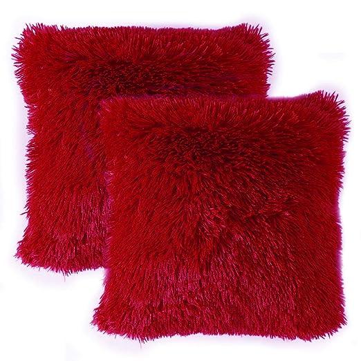 MIULEE Juego de 2 Cojines Protectores Faux Fur Throw Funda ...