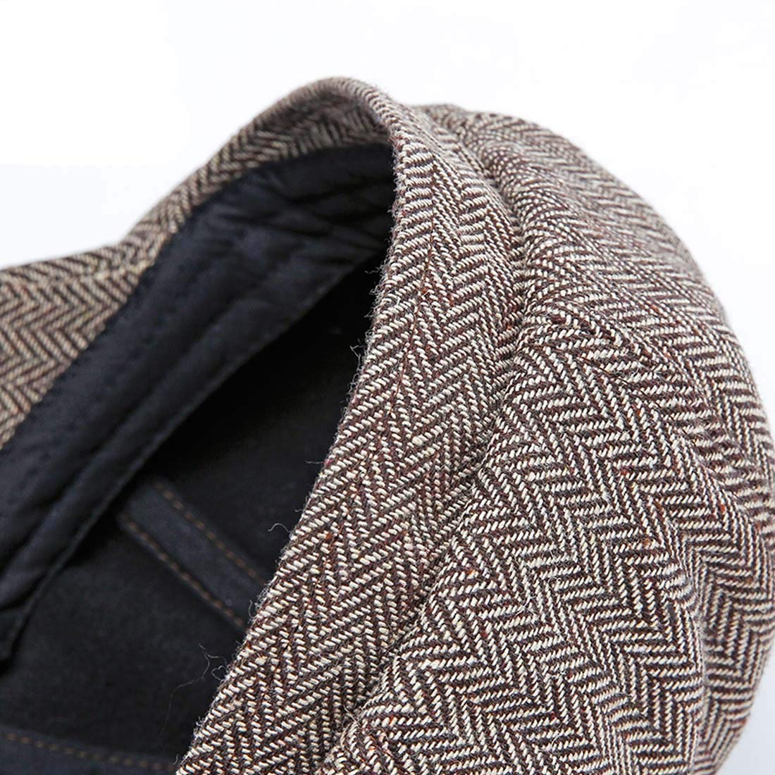 Topcoco Mens Classic Visor Newsboy Cabbie Hat Fall Winter Warm Ivy Beret Flat Cap