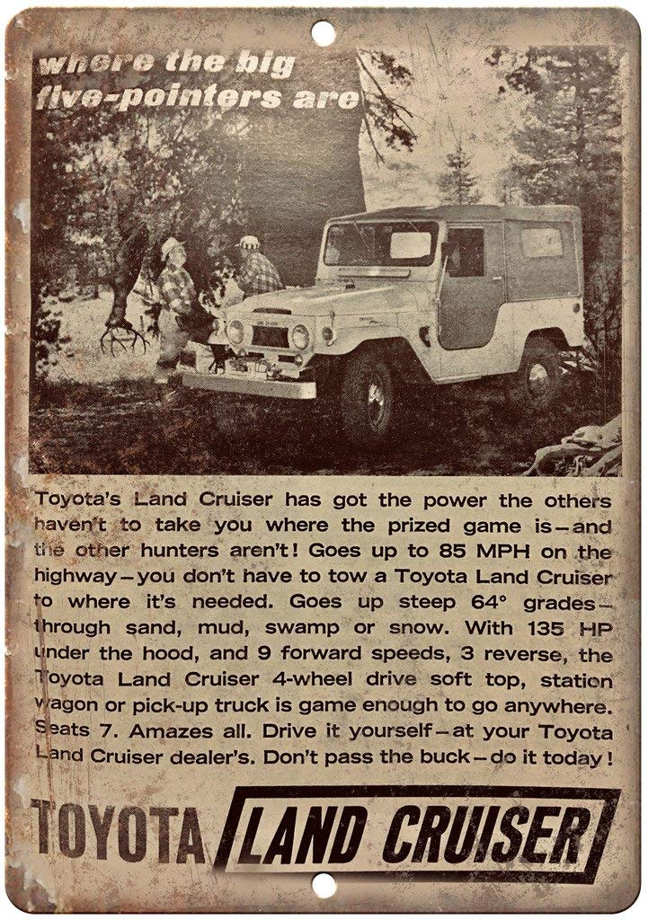 Toyota Land Cruiser Vintage Placa Vintage Metal Cartel de ...