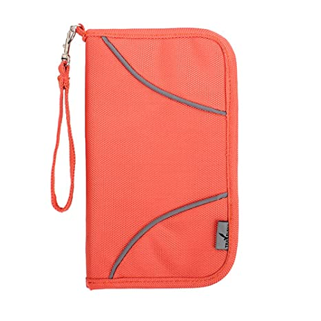 RFID Blocking Travel Wallet, ONEGenug Bolsa de Pasaporte, Organizador de documentos,cartera,